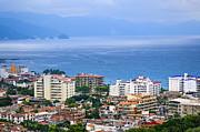 Puerto Vallarta And Blue Ocean Print by Elena Elisseeva