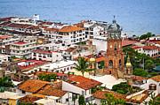 Puerto Vallarta Rooftops Print by Elena Elisseeva