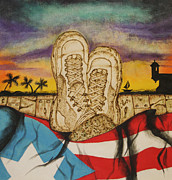 Army Pyrography - Puertorrican soldier dream by Andrea Urrego Corredor