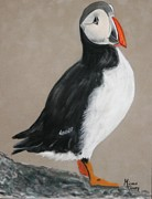 Puffin Pastels - Puffin Alert by Michele Turney