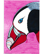 Canadian Portraits Mixed Media - Puffin by Don Koester