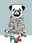 Canine Posters Mixed Media - P.u.g by Brian Buckley