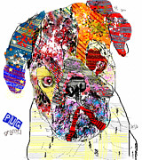 Pug Graffiti Print by Bri Buckley