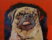 Carlin Paintings - Pug by Michael Creese