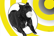 Tennis Mixed Media Posters - Pug Out of Bounds Poster by Sharon Watson