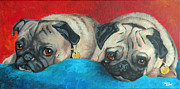 Terry Albert - Pug pair