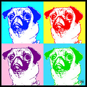 Canine Caricatures By John LaFree - Pug Pop Art