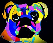 Pug Power Impression Print by Saundra Myles