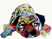Canine Mixed Media Prints - Puged Up Print by Brian Buckley