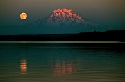 Pnw Art - Puget Sound Moonrise by Benjamin Yeager