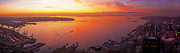 Seattle Center Prints - Puget Sound Sunset Print by Mike Reid
