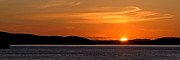 Sun Set Photographs Photos - Puget Sound Sunset - Washington by Brian Harig