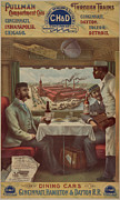 Lithograph Digital Art Framed Prints - Pullman Compartment Cars Ad circa 1894 Framed Print by George Pedro
