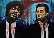 Pulp Fiction Paintings - Pulp Fiction by Matt Burke