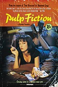 Movie Digital Art Metal Prints - Pulp Fiction Original Poster Metal Print by Sanely Great