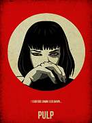 Famous Actors Posters Framed Prints - Pulp Fiction Poster Framed Print by Irina  March