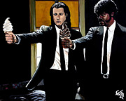 Pulp Fiction Paintings - Pulp Ice Cream by Tom Carlton
