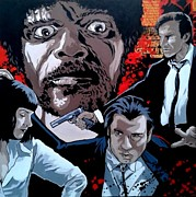 Pulp Fiction Paintings - Pulp It Up by Steven Beattie