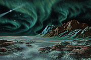 Aurora Art Paintings - Pulsar Planets I by Lynette Cook