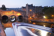 Pulteney Bridge Framed Prints - Pulteney Bridge and Weir Bath Framed Print by Colin and Linda McKie