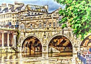 Pulteney Bridge Framed Prints - Pulteney Bridge Bath Framed Print by Paul Gulliver