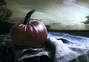 Jack O Lantern Photos - Pumpkin At Sunset by Christopher and Amanda Elwell