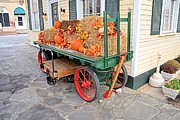 Flagstones Prints - Pumpkin Cart Print by James Potts