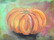 Original For Sale Pastels Prints - Pumpkin Print by Igor Kotnik