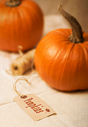 Label Photo Prints - Pumpkin Label Print by Christopher and Amanda Elwell