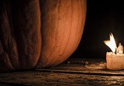 Candle Lit Prints - Pumpkin Light Print by Paul Geilfuss