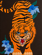 Mascot Painting Metal Prints - Pumpkin Metal Print by Minnie Lippiatt