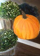 Cindy Plutnicki - Pumpkin On Doorstep