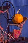 Garry Gay - Pumpkin On Tractor Seat