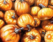 Gourds Paintings - Pumpkin Palooza by Shana Rowe