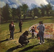 Ridgewood Art - Pumpkin Picking by Victor SOTO