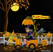Hallows Paintings - Pumpkin Power by Christine Altmann