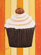 Cheese Shop Prints - Pumpkin Spice Cupcake by Shawna Erback Print by Shawna Erback