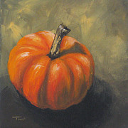 Pumpkin Paintings - Pumpkin by Torrie Smiley