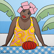 Caribbean Sea Paintings - Pumpkin by Trudie Canwood