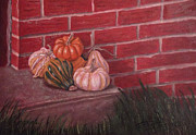 Pumpkins Paintings - Pumpkins by Anthony Joseph