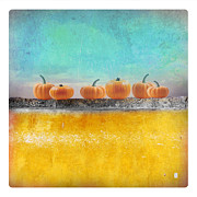 Featured Art - Pumpkins on a Yellow Wall by Art Skratches