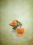 Interior Still Life Photo Metal Prints - Pumpkins Still Life Metal Print by Artskratches