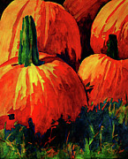 Pumpkins Paintings - Pumpkins by Yvonne Gillengerten
