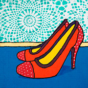 Pumps Painting Prints - Pumps Print by Lida Bruinen