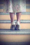 Staircase Prints - Pumps On Steps Print by Joana Kruse