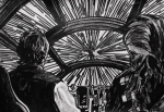 Star Wars Drawings Framed Prints - Punch It Framed Print by Jeremy Moore
