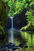 Eagle Creek Prints - Punchbowl Falls Print by Brian Jannsen