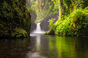 Eagle Creek Prints - Punchbowl Falls Print by Joseph Rossbach
