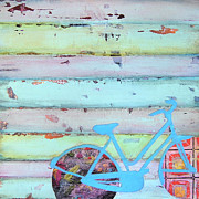 Bicycle Collage Prints - Punctured Bicycle Print by Danny Phillips