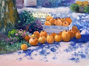 Pumpkins Paintings - Punkins by Todd Derr
